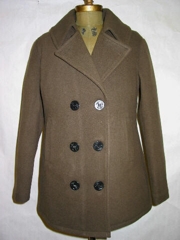 American Made Ladies Pea Coat #22594. 22-Ounce Wool Melton